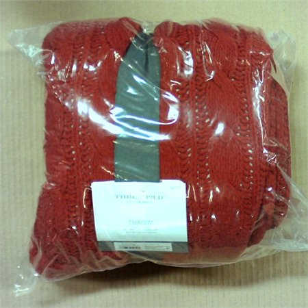 60x50 Chunky Chenille Reverse To Sherpa Throw Blanket - Threshold - Red