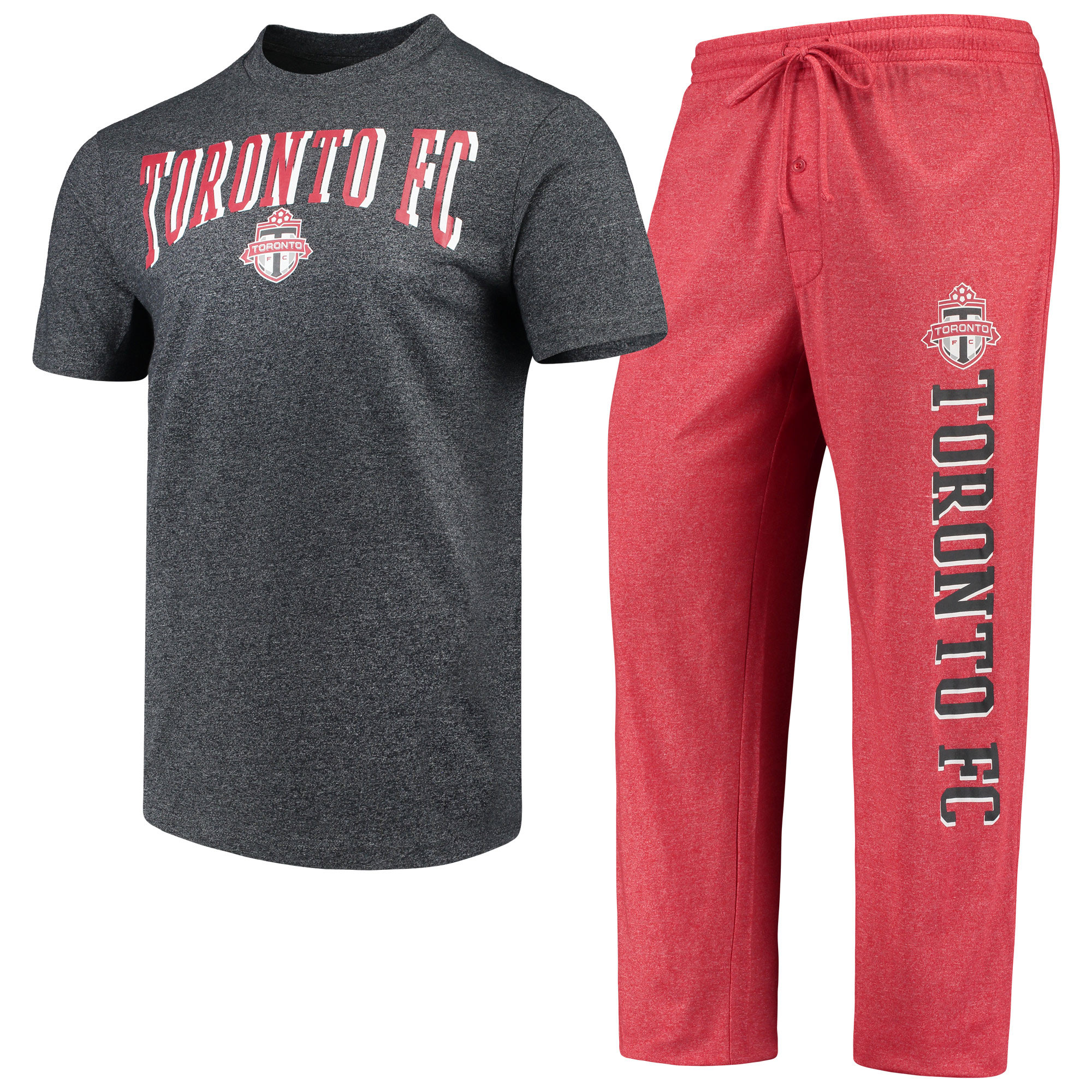 Toronto FC Concepts Sport Spar Pants & Top Sleep Set - Red/Charcoal