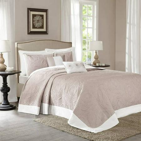 Khaki Clark Bedspread Set (King) 5pc