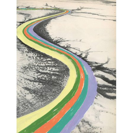 Rainbow Road Whimsical Landscape Print Wall Art By Danielle Kroll
