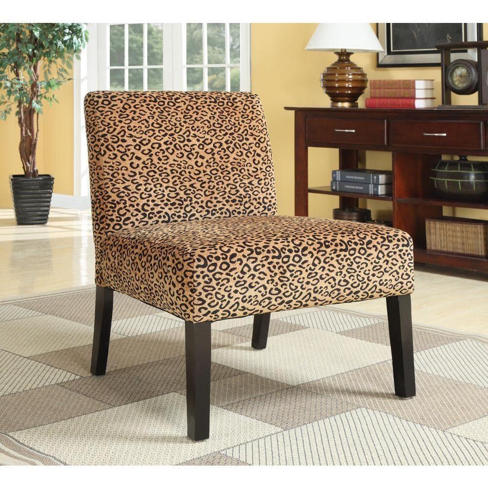 PBK Plush Oversized Leopard Print Accent Chair
