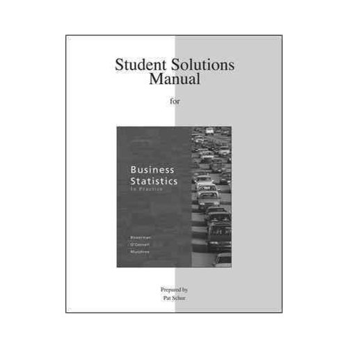 student solutions manual for business statistics in practice rh walmart com Business Statistics Examples QNT 351 Statistics in Business