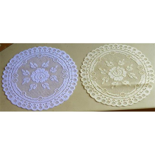 Tapestry Trading 652I16 16 inch European Lace Doily, Ivory