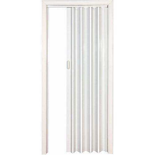 """HomeStyles Vienna Vinyl Accordion Door, 36"""" x 80"""", White"""