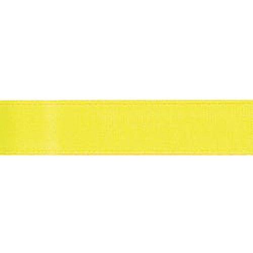 "Single Face Satin Ribbon 7/8"" Wide 18 Feet-Lemon"