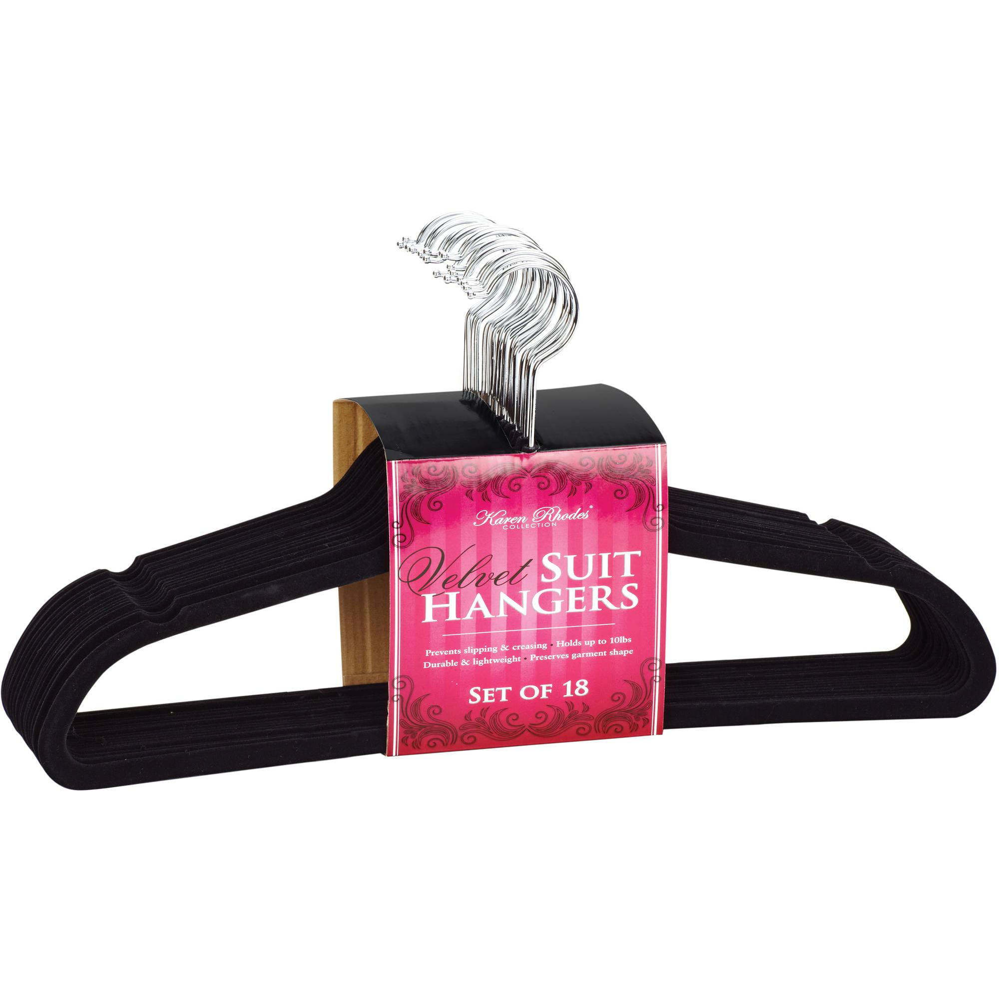 Simplify Velvet Suit Hangers, 18 Pack