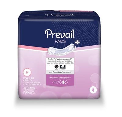 Prevail Bladder Control Pad, 11 Inch, Heavy Absorbency, PV-916/1 - Case of 192