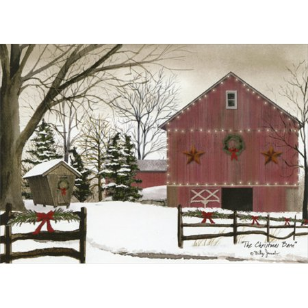 LPG Greetings The Christmas Barn Box of 18 Christmas Cards ()