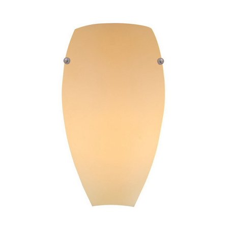 GHP Brushed Brass & White Finish Knobs & Creme Glass Wall Sconce Lighting