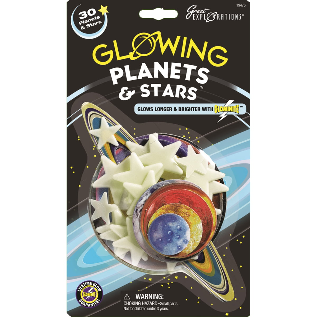 8 Pack g kids Glow Planets /& Stars bedroom - solar system glow in the dark