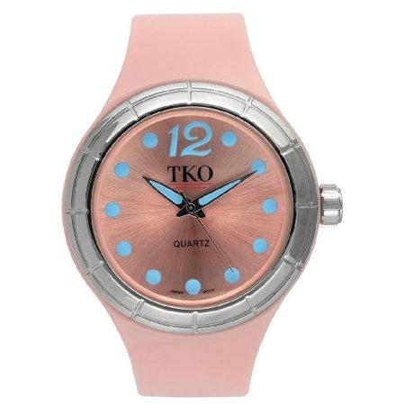 TKO ORLOGI Women's TK531-PK Candy Collection Fun Colorful Rubber Watch