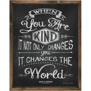Forest Creations Magnet Print When You are Kind  Framed Textual Art