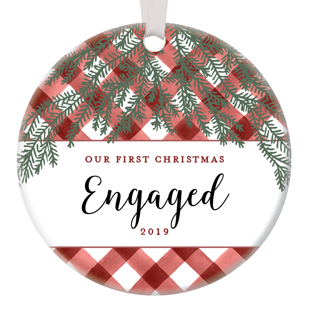 Walmart Wedding Gift Ideas: Our First Christmas Engaged Ornament 2019 Engagement