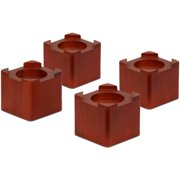 Honey-Can-Do Wood Bed Risers, Brown (Pack of 4)