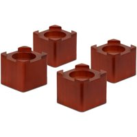 Honey Can Do Wood Bed Risers, Multicolor (Pack of 4)