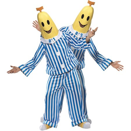 Couples Fancy Dress Costume (Bananas In Pajamas Adult Costume Pyjamas TV Show Gift Fancy Dress Cosplay B1)