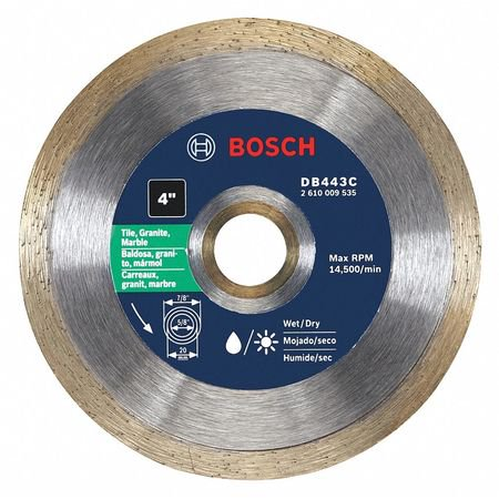 BOSCH Diamond Saw Blade,Wet/Dry Cutting Type DB443C