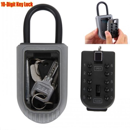 10-Digit Outdoor Combination Key Lock Wall Mounted Car Home Safe Box Security Holder Case thumbnail