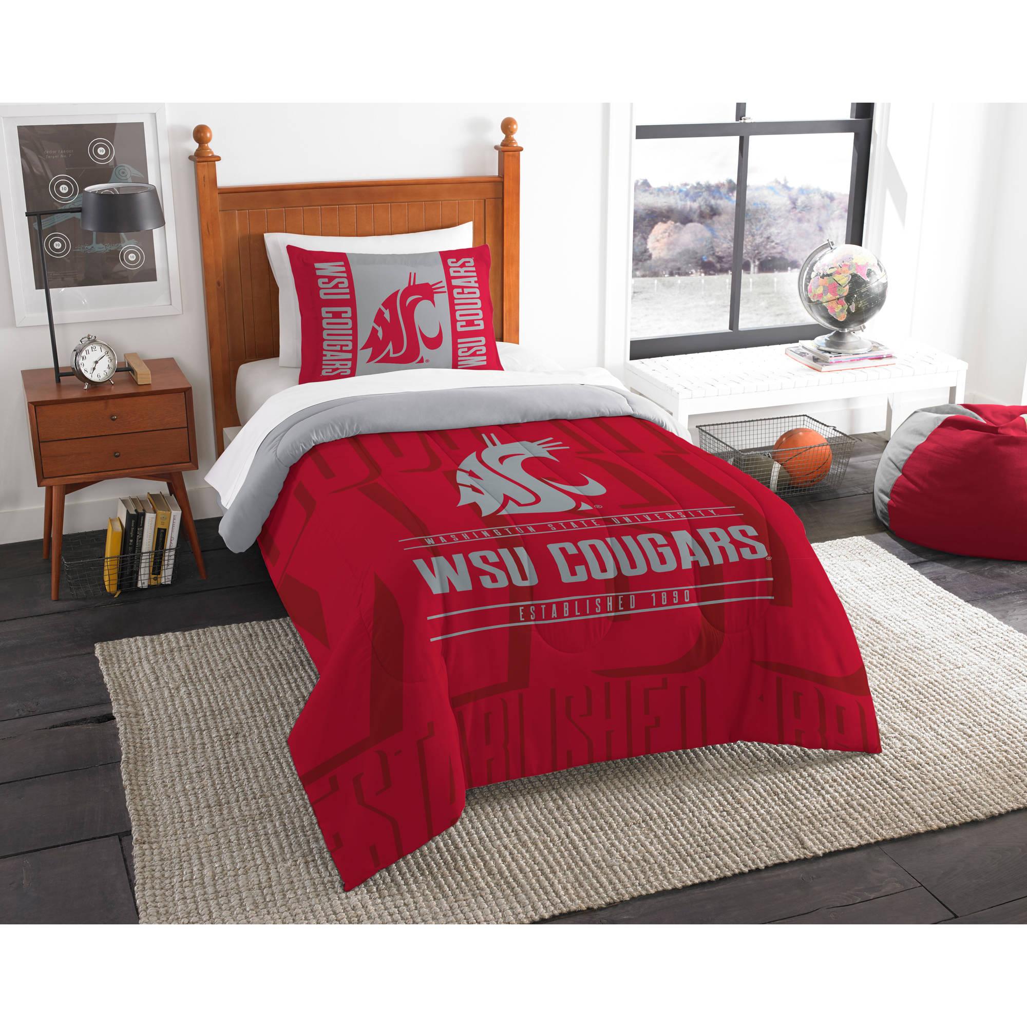"""NCAA Washington State Cougars """"Modern Take"""" Bedding Comforter Set"""