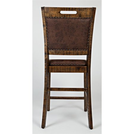"Bowery Hill 24"" Upholstered Counter Stool in Brown (Set of 2) - image 7 of 8"