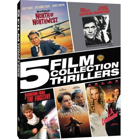 5 Film Collection  Thrillers   North By Northwest   Lethal Weapon   The Fugitive   The Shawshank Redemption   L A  Confidential