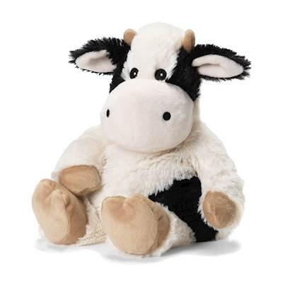 Black and White Cow - Warmies Cozy Plush Heatable Lavender Scented Stuffed Animal (Black Stuffed Cow)