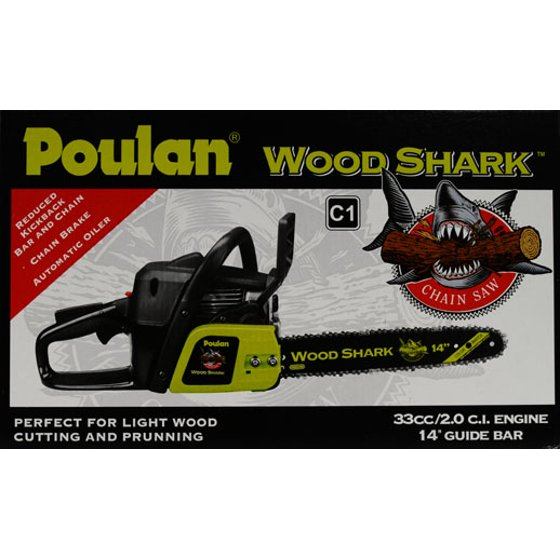 Poulan 14 woodshark chainsaw walmart greentooth Choice Image