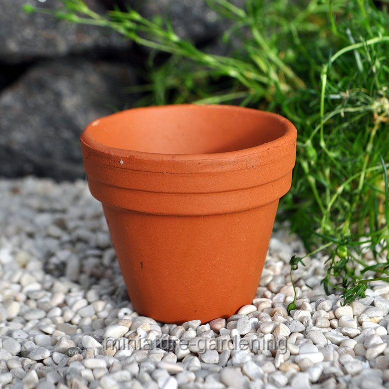 Miniature Terra Cotta Pot for Miniature Garden, Fairy Garden