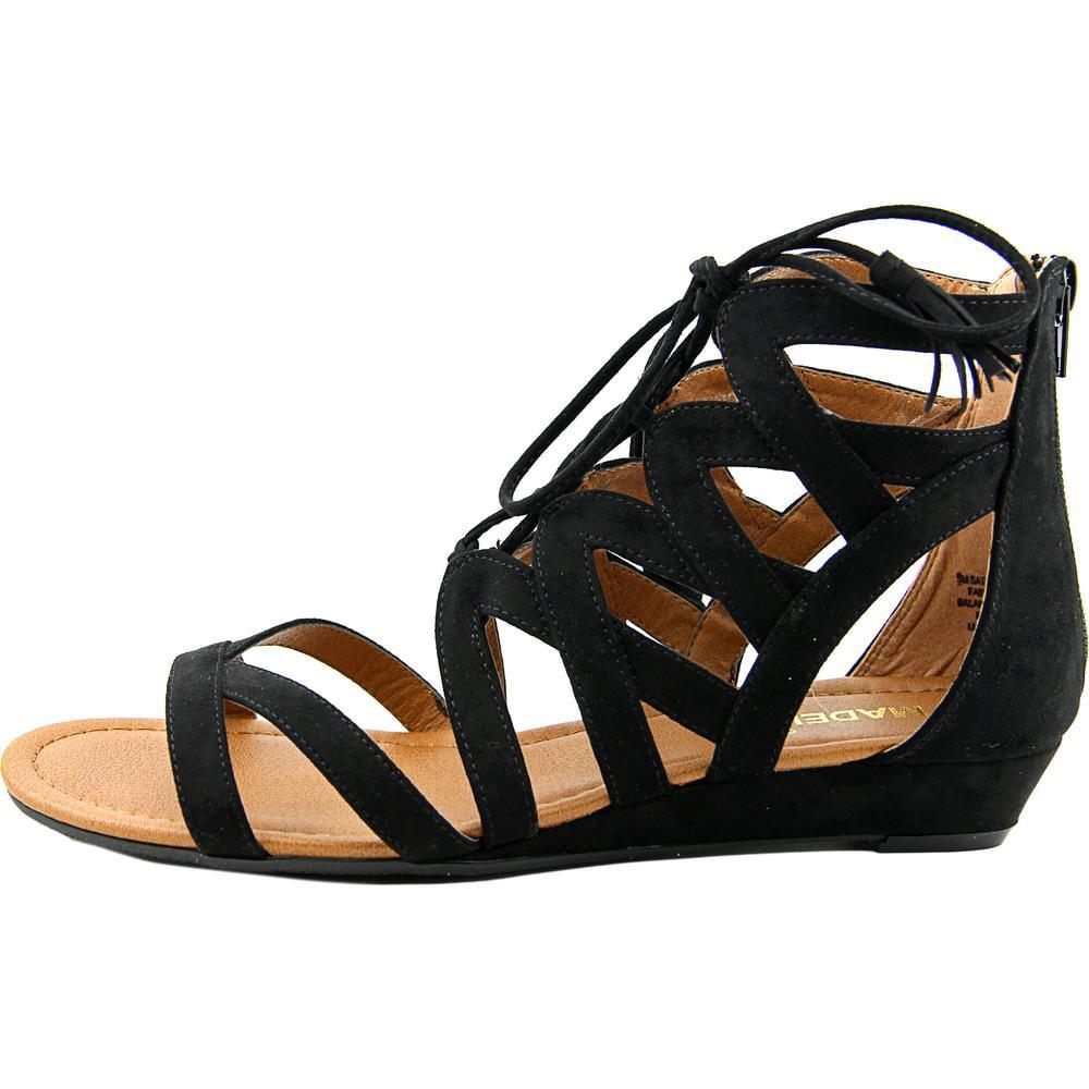 e785f19c7 Madeline Girl - Madeline Girl Saturate Women Open Toe Canvas Black  Gladiator Sandal - Walmart.com