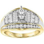 Keepsake Oriana 1 Carat T.W. Certified Diamond 10kt Yellow Gold Engagement Ring