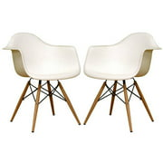 Baxton Studio Pascal Modern Shell Chairs, Set of 2, Multiple Colors