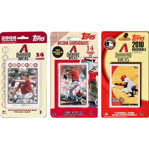 C & I Collectibles MLB 3 Different Licensed Trading Card Team Set