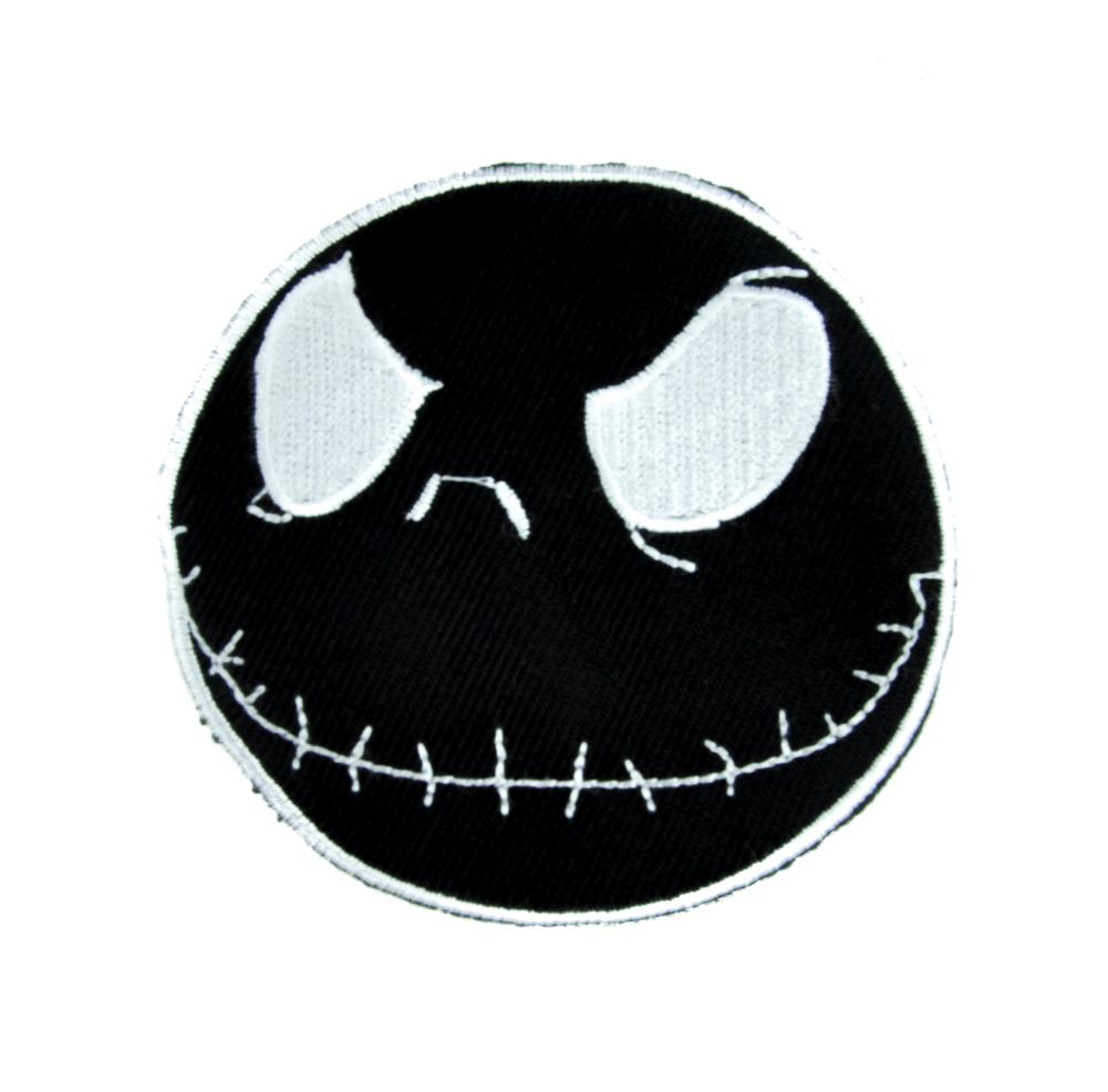 Negative Jack Skellington Patch Iron on Applique Nightmare Before Christmas