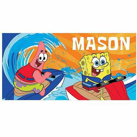 Personalized SpongeBob SquarePants Jet Ski Buddies Beach Towel