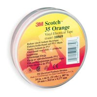 "SCOTCH 35 3/4"" X 66' Orange Vinyl Electrical Tape"