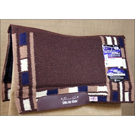 PROFESSIONAL CHOICE COMFORT FIT MASON AIR RIDE HORSE SADDLE PAD CHOCOLATE