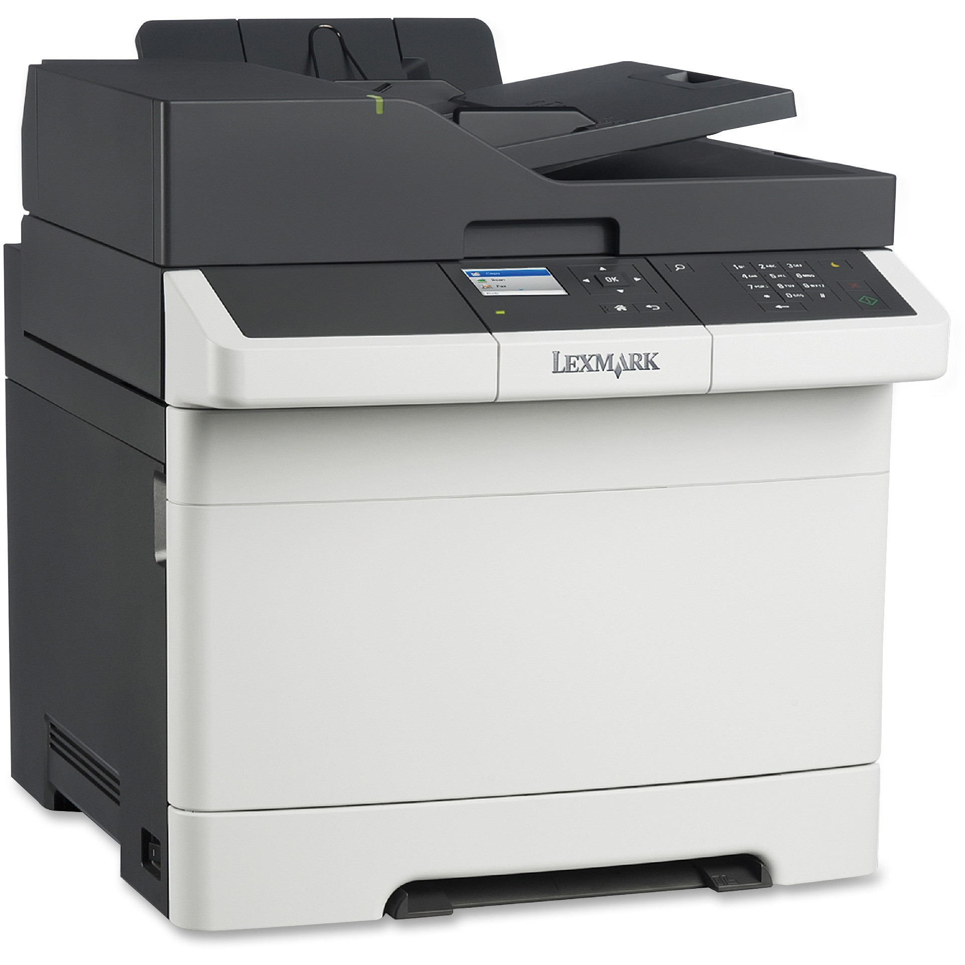 Lexmark CX310DN Laser Multifunction Printer - Color - Plain Paper Print - Desktop, Black, White