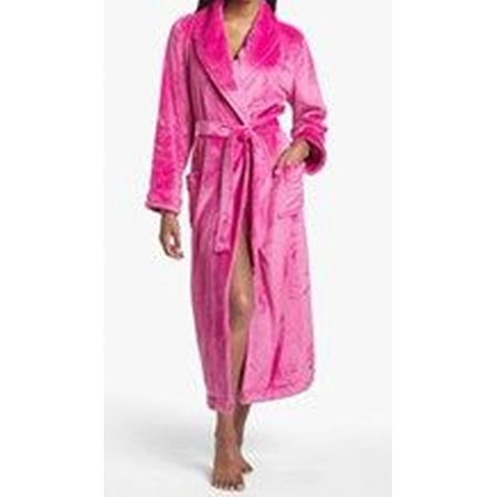Nordstrom New Pink Womens Size Small S Solid Shawl Collar Tie Waist Robe
