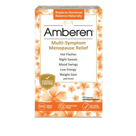 Image of Amberen Menopause Relief Dietary Supplement Capsules - 60ct