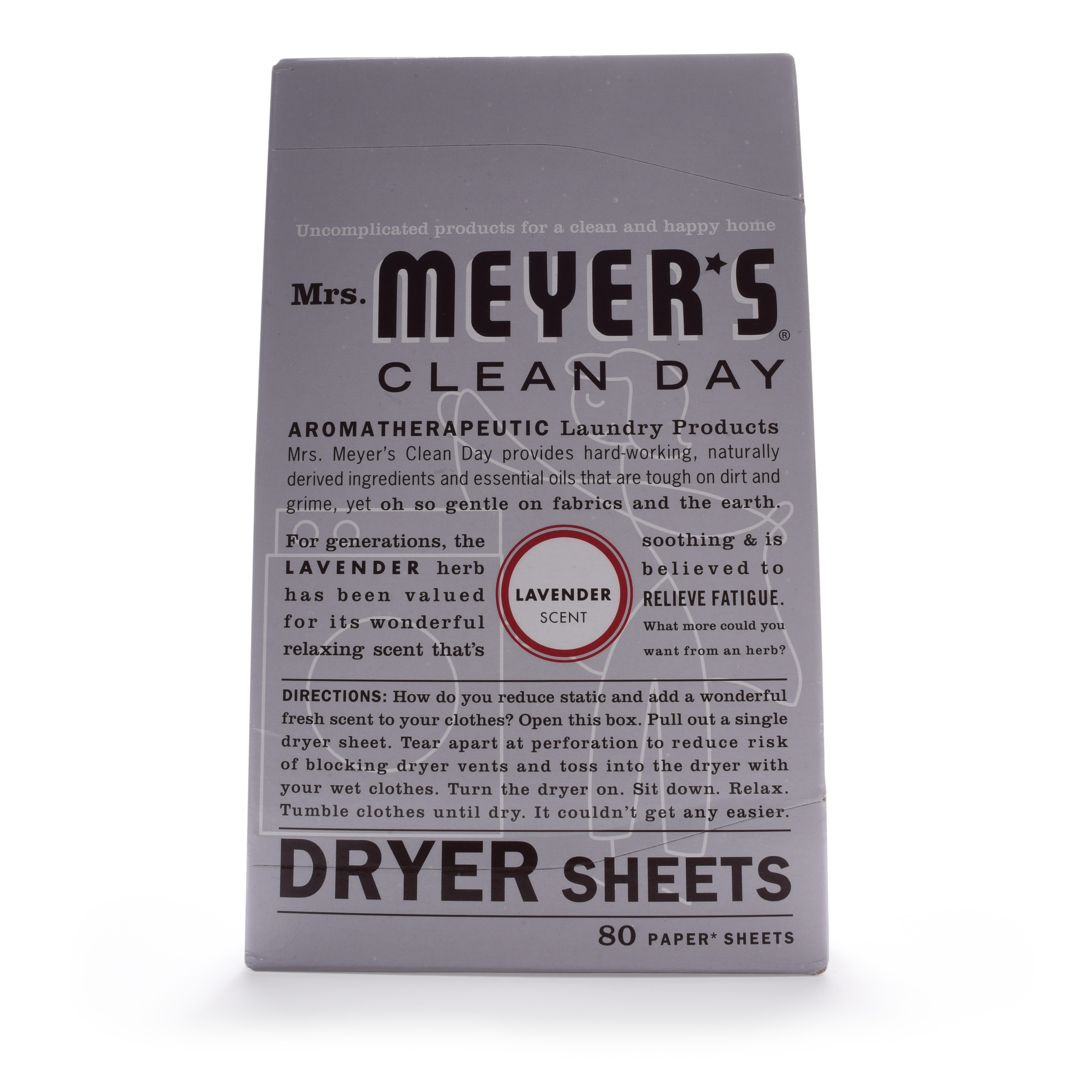 Mrs. Meyer's Clean Day Dryer Sheets, Lavender, 80 count