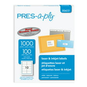 """PRES-a-ply White Shipping Labels, 2"""" x 4"""", 1000 Labels (30603)"""