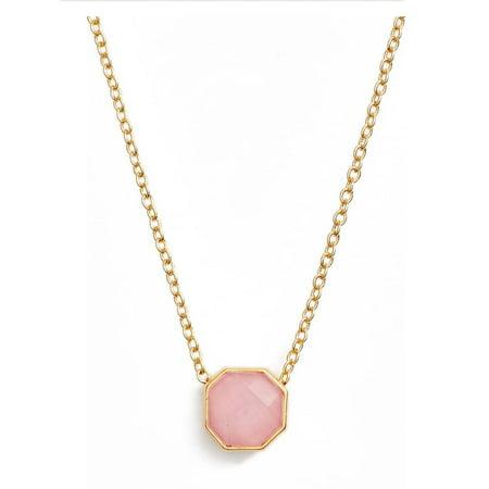 Gold Smokey Quartz Necklace - Gorjana Power Gemstone Charm Rose Quartz Adjustable Gold Necklace 18910131GPKG