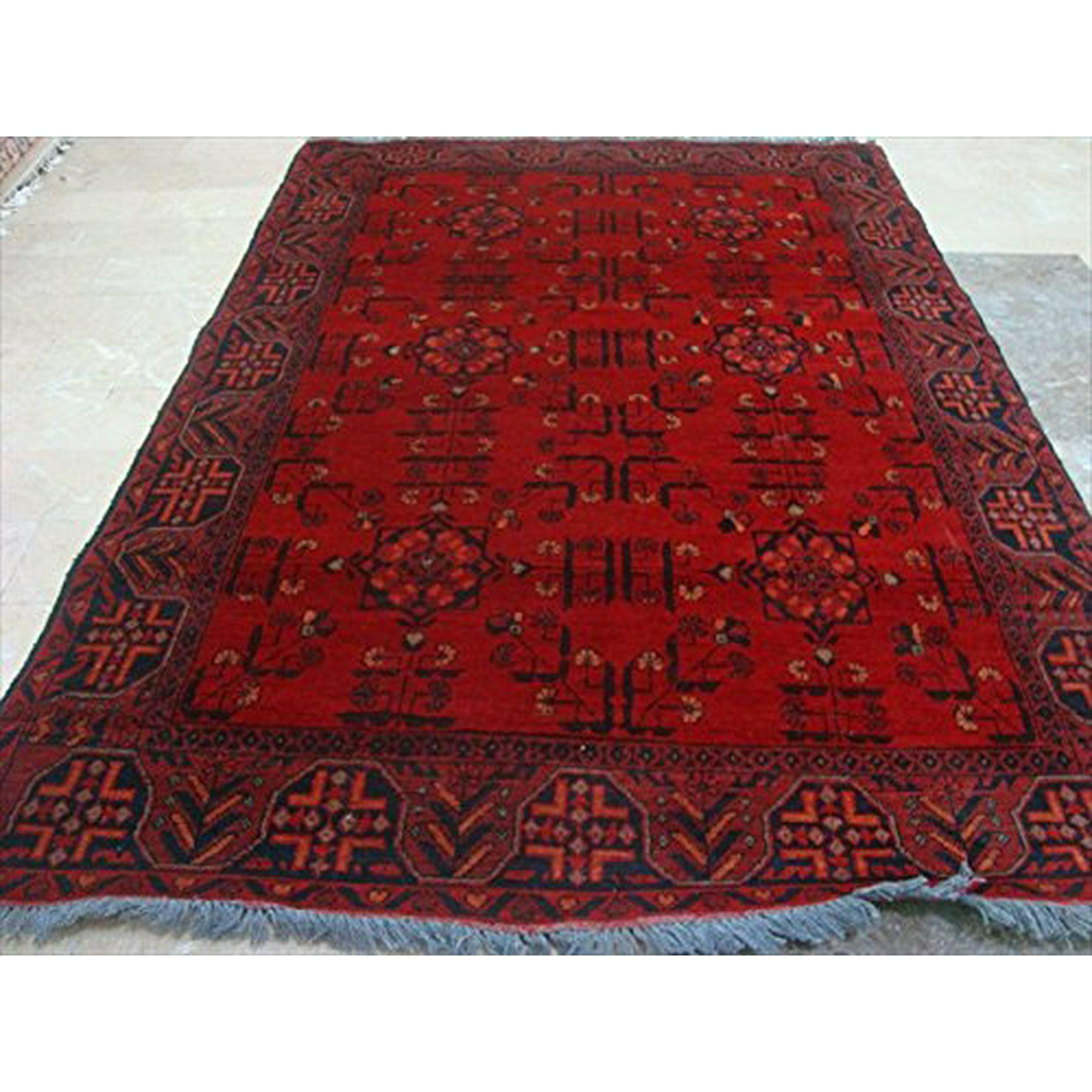 Ahmedani Exclusive Khal Muhamadi Fine Afghan Hand Knotted Rectangle Area Rug Wool Carpet 6 1 X 4 3 Walmart Canada