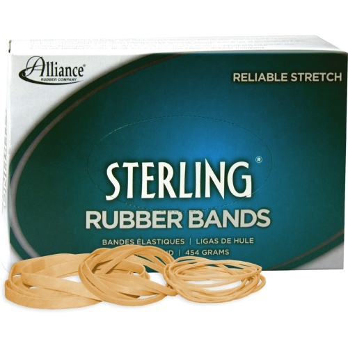 Alliance Sterling Ergonomically Correct Rubber Bands, #54, Assorted Sizes, 1lb Box
