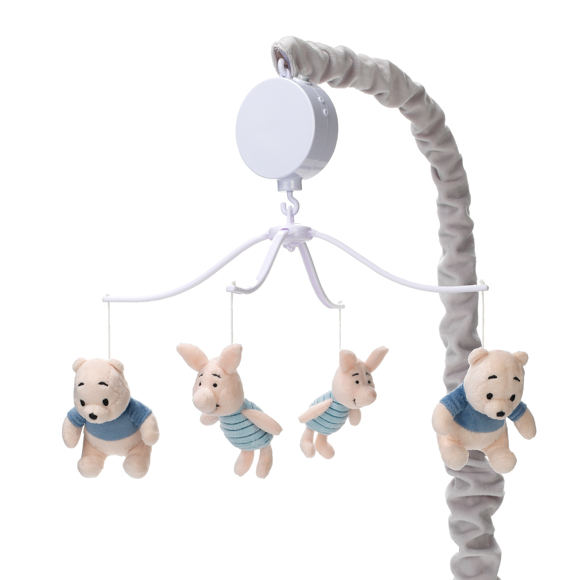 Click here to buy Disney Baby Forever Pooh Gray Beige Bear Musical Baby Crib Mobile by Lambs & Ivy by Lambs %26 Ivy.