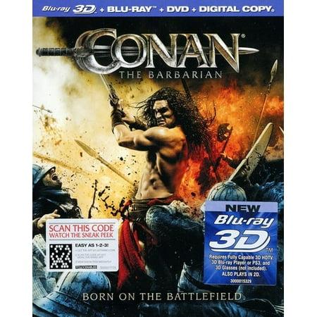 Conan The Barbarian  2011   3D   Blu Ray   Blu Ray   Dvd
