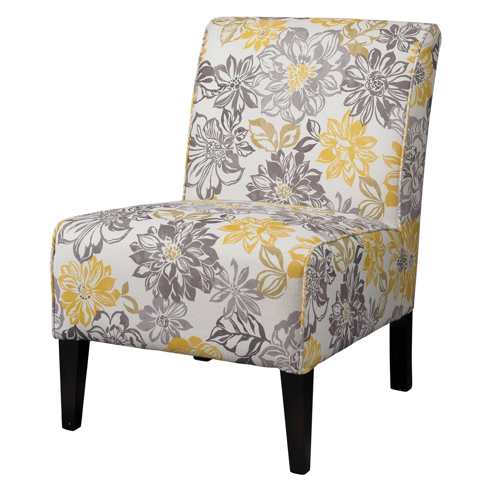 Linon Lily Bridey Chair, Black Frame, 18 inch Seat Height