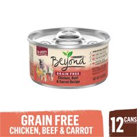 (12 Pack) Purina Beyond Grain Free, Natural Gravy Wet Cat Food, Grain Free Chicken, Beef & Carrot Recipe, 3 oz. Cans