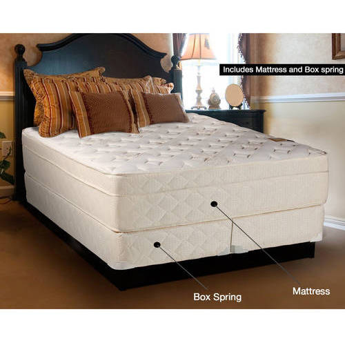 "Continental Sleep Fifth Ave Collection 13"" Fully Assembled Foam Encased Soft Eurotop Orthopedic Mattress Set with 5"" Box-Spring, Multiple Sizes"