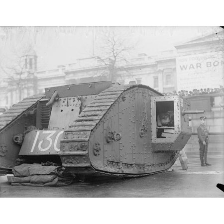 Trafalgar Collection (Framed Art For Your Wall Ministry of Information First World War Official Collection War bonds appeal. Tank in Trafalgar Squa 10x13)